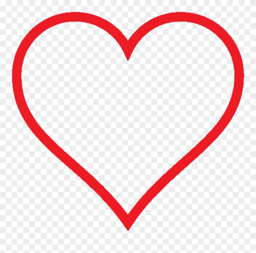 Heart Icon Red Hollow Valentine Svg.