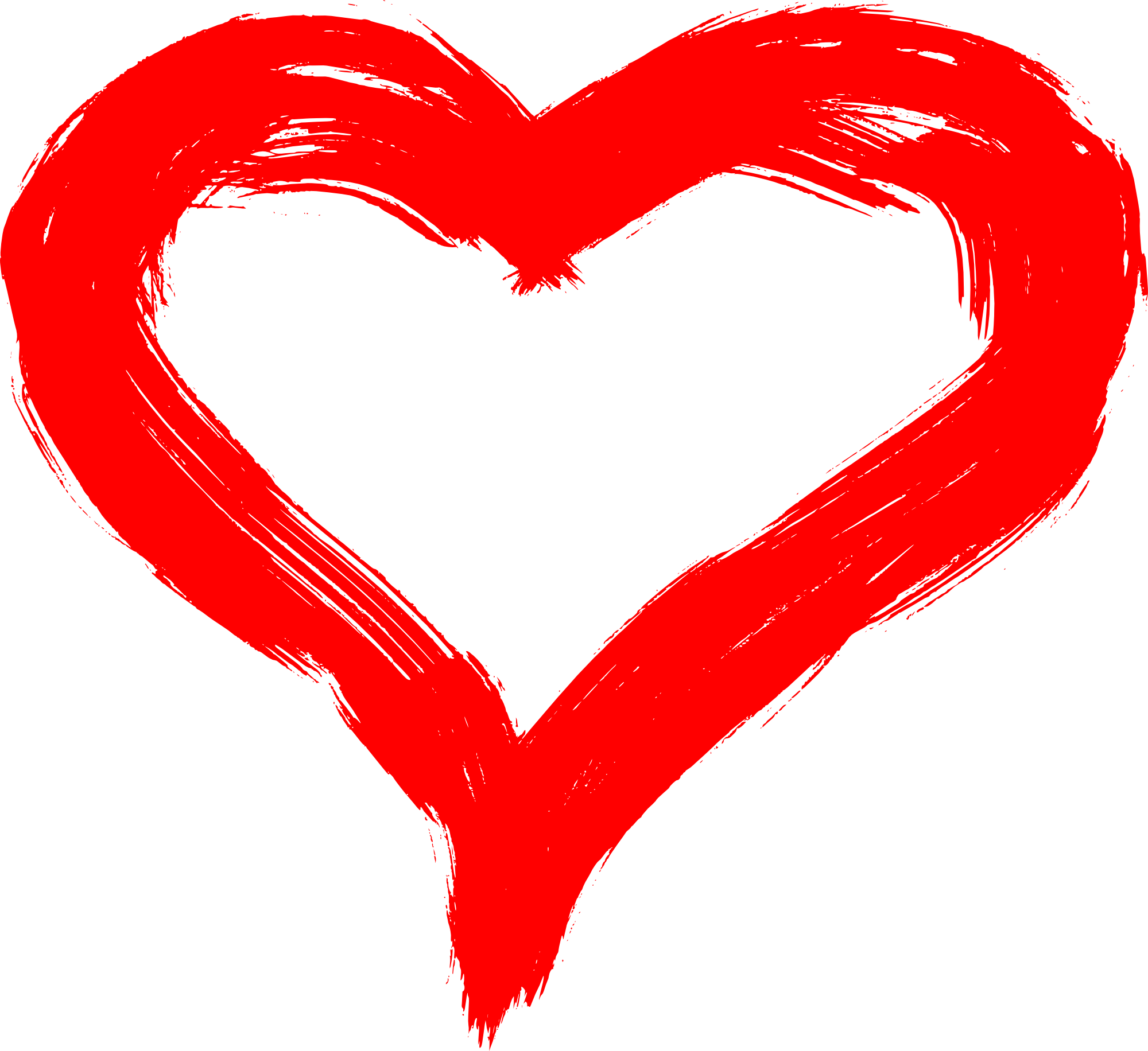 Hand Drawn Heart PNG Transparent.