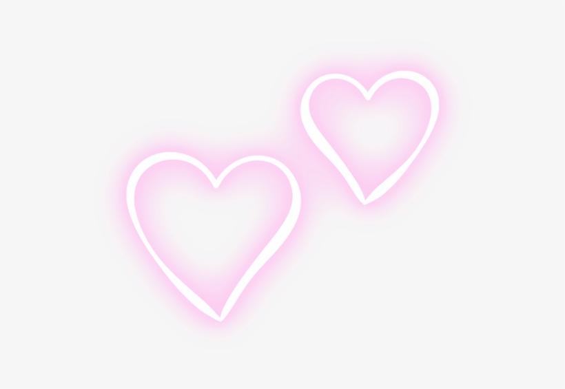 Two Hearts Pink Neon Tumblr Editpng Pngedit Pngedits.