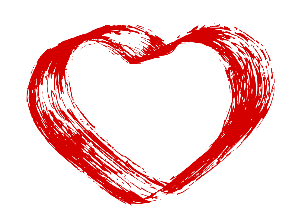 Hand Drawn Heart Vector (EPS, SVG, PNG).