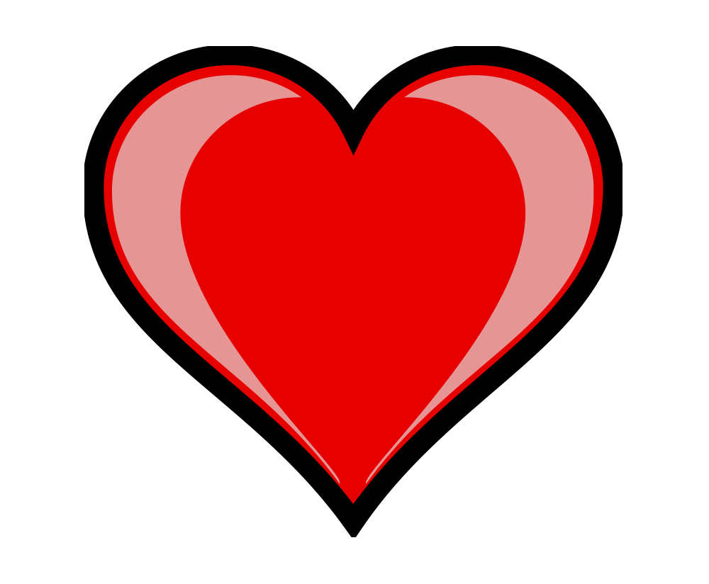 heart png vector transparent without background image.