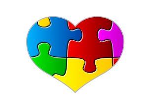 Autism heart clipart.