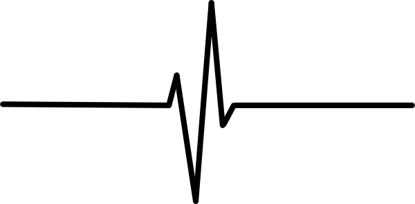 Heartbeat Png Transparent Black: Heart Beat Clipart