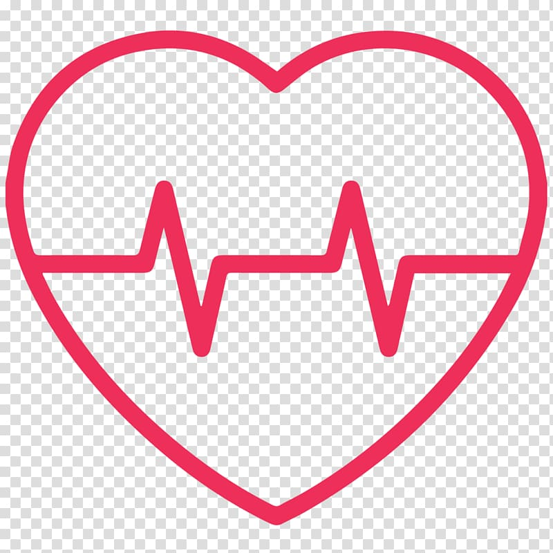 Heart rate monitor Pulse , heart transparent background PNG clipart.