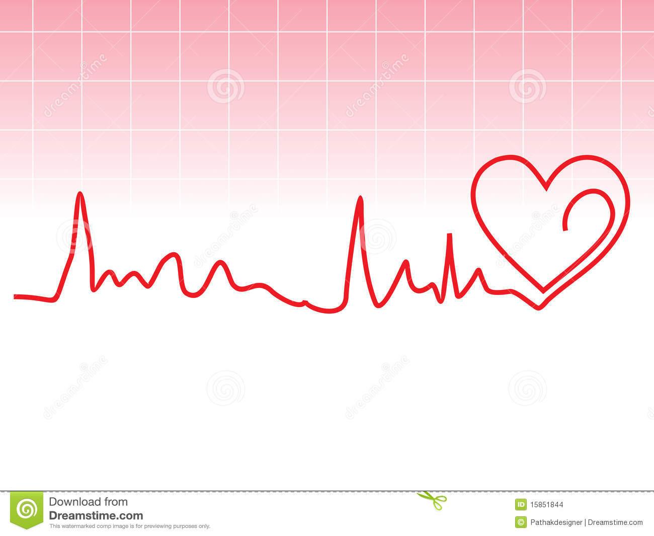 heart rhythm line clipart - Clipground