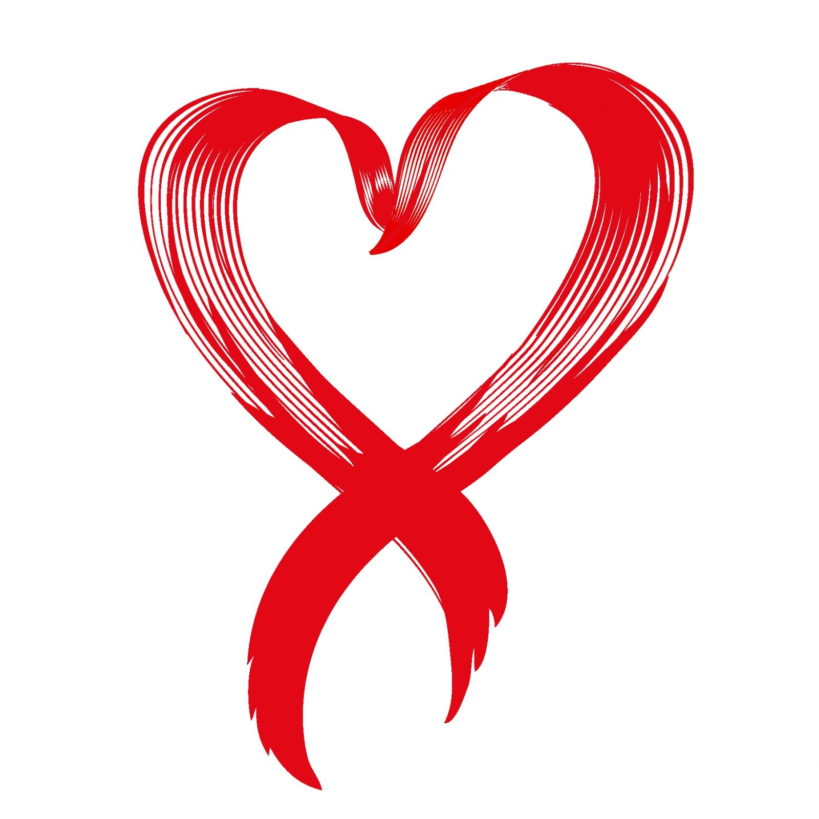 Love awareness ribbon vector.