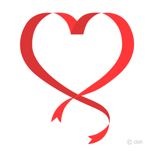 Heart Red Ribbon Clipart Free Picture|Illustoon.