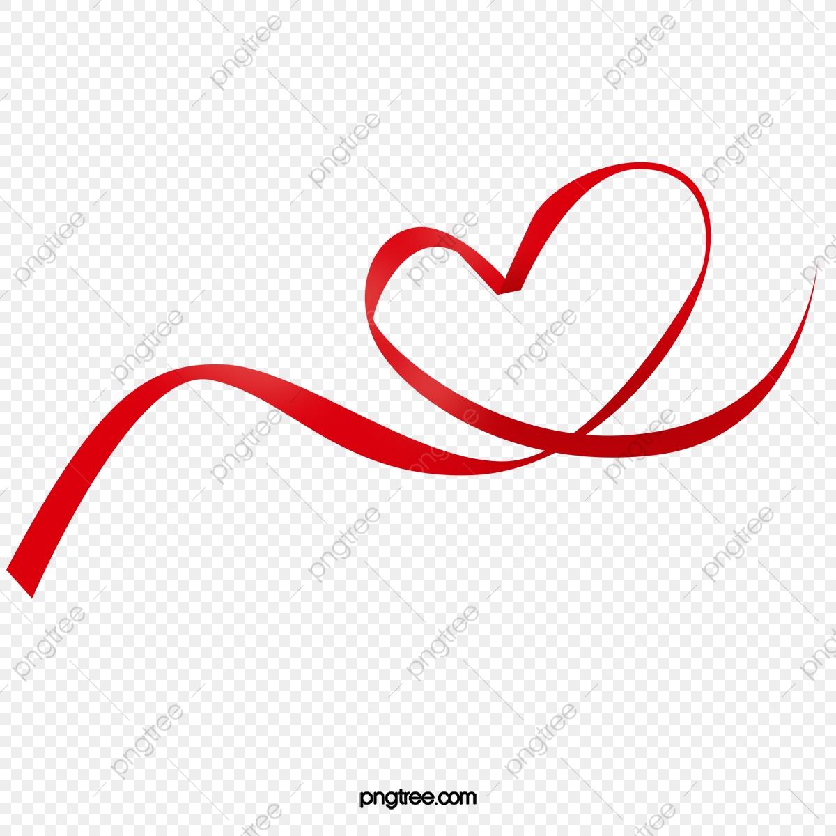 Heart Ribbon Heart Outline, Heart Clipart, Ribbon Clipart, Heart.