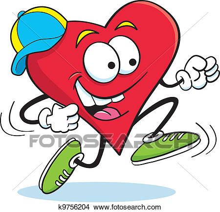 Running Heart Clipart.