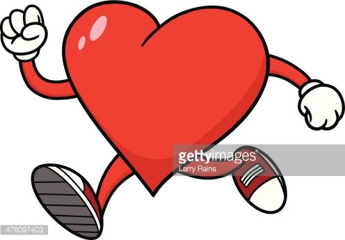 Heart Running premium clipart.
