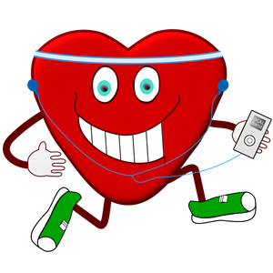 Jogging Heart clipart, cliparts of Jogging Heart free download (wmf.
