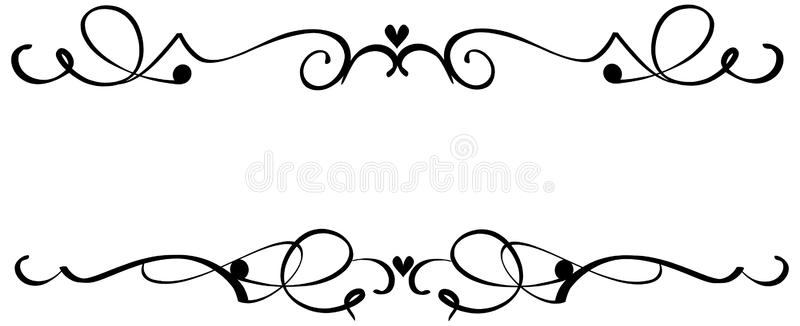 Heart clip art scroll.