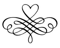 Image result for decorative heart scrolls.