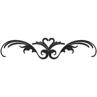 Embroidery Mill Heart Scroll 10059.