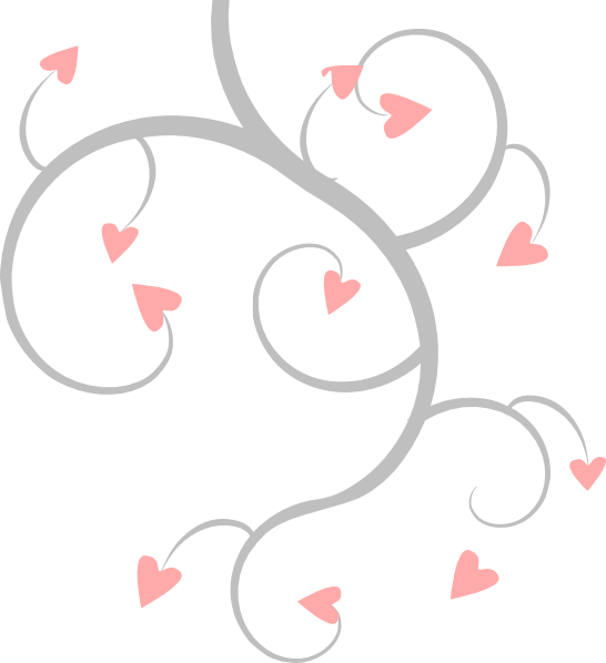 Pink And Grey Heart Scroll Clip Art at Clker.com.