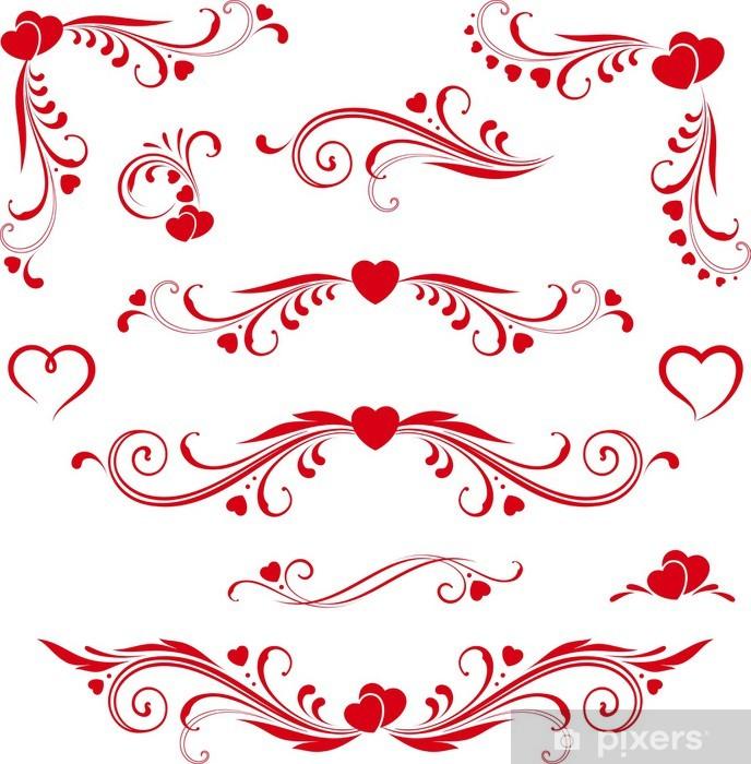 heart scroll design.