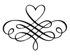 decorative heart scrolls.