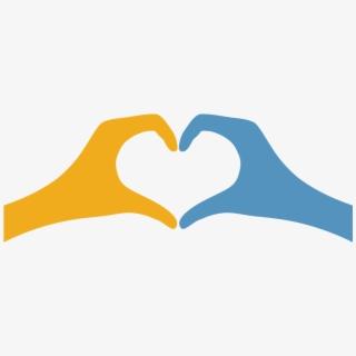 Hand Heart Symbol Shape Icon.