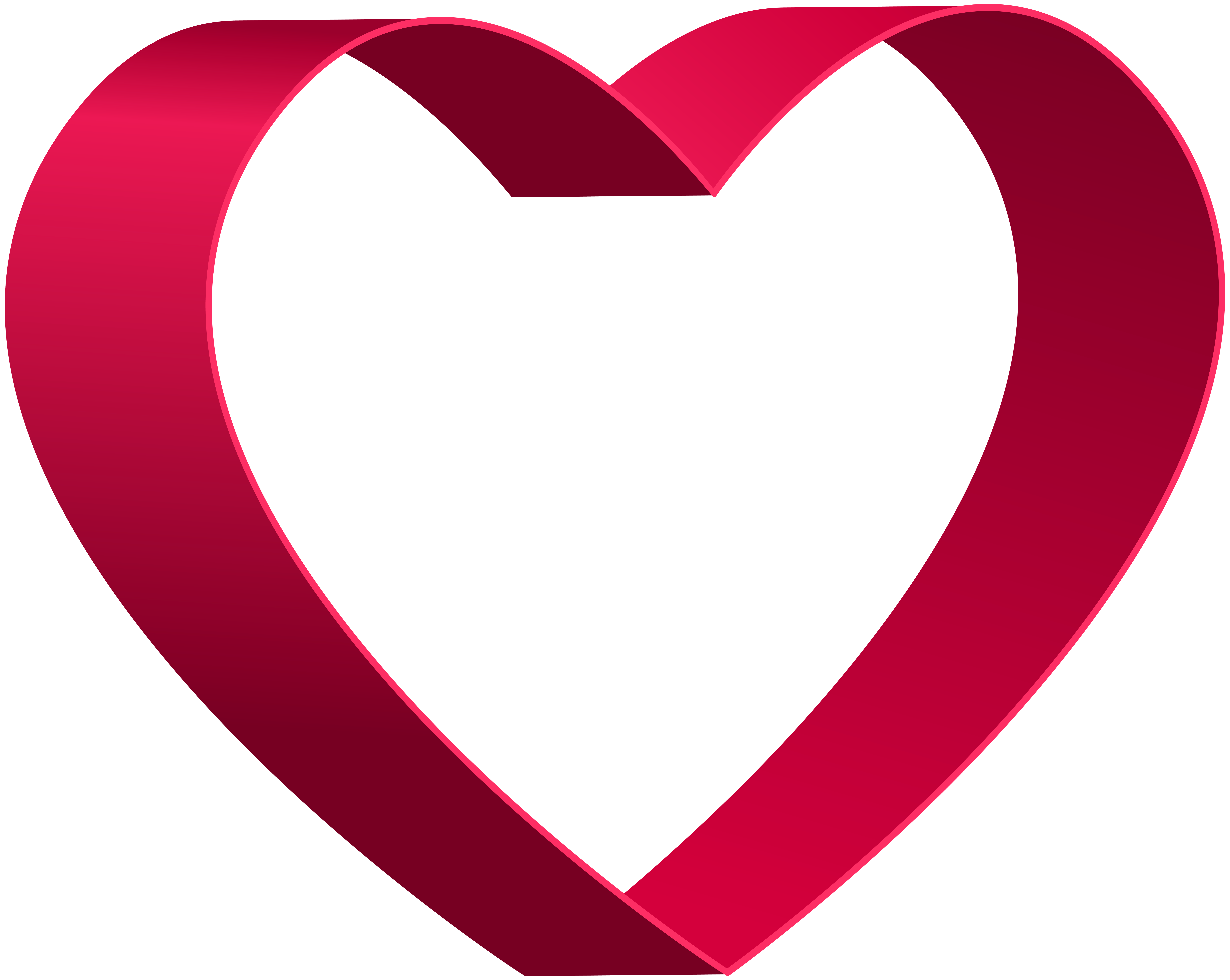 Transparent Heart Shape PNG Clip Art.