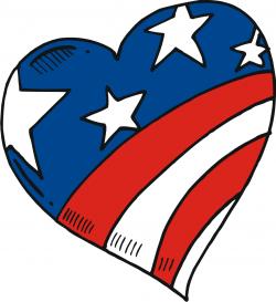Risultati immagini per heart usa flag.