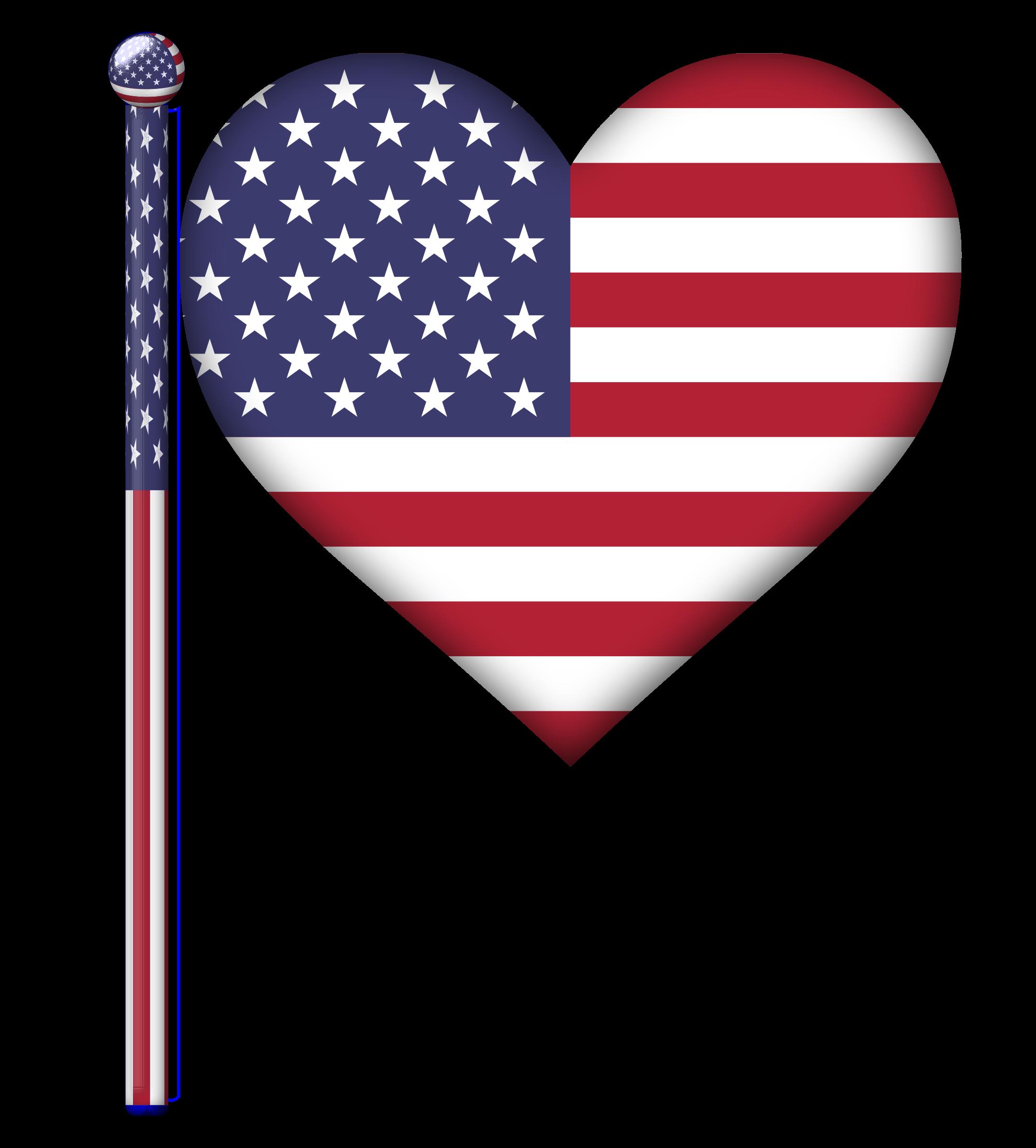 Heart Flag Clipart.