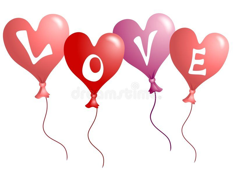 Download Valentine\'s Day Love Heart Shaped Balloons Stock.