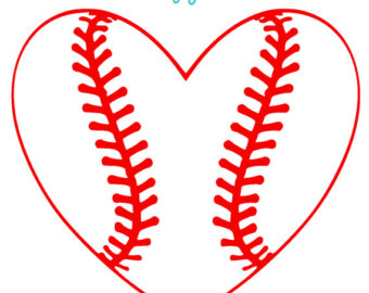 Heart Shaped Baseball Clipart.