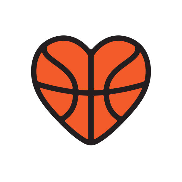 Top 30 Clip Art Of A Heart Shaped Basketball Clip Art, Vector.