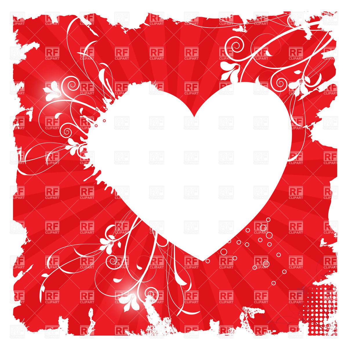 Heart Shaped Frame Clipart.