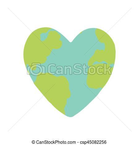 Heart shaped planet Earth..