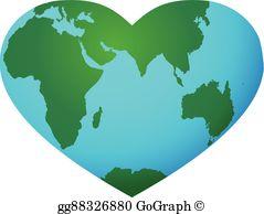 Heart Shaped Earth Clip Art.