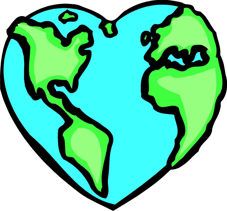 Heart Earth Clipart.