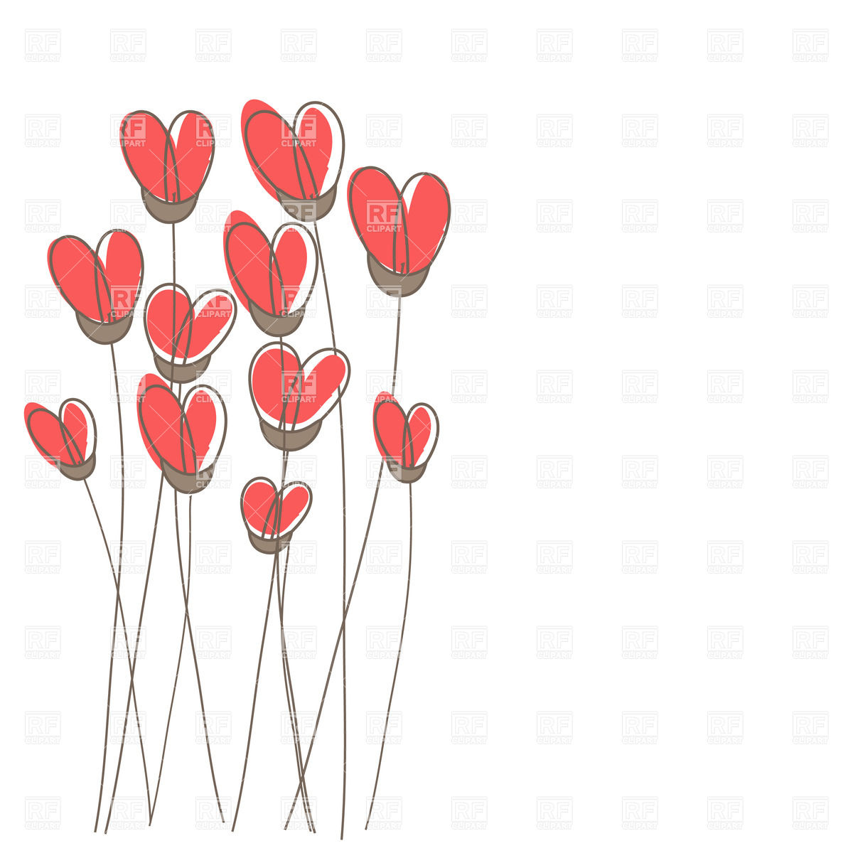 Heart shaped flower clipart 1 » Clipart Station.
