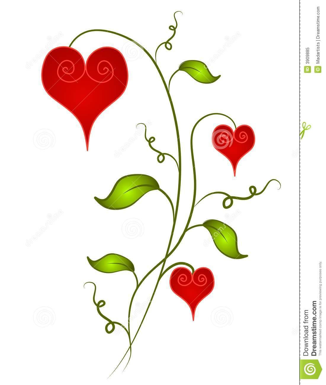 Flower heart clip art.