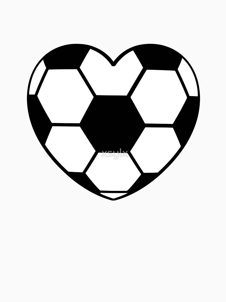 Football heart shaped heart shaped soccer ball.