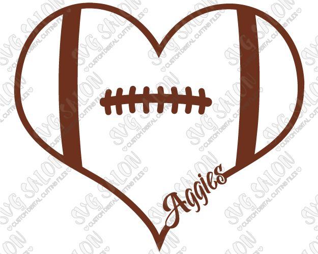 Free Football Clipart heart, Download Free Clip Art on Owips.com.