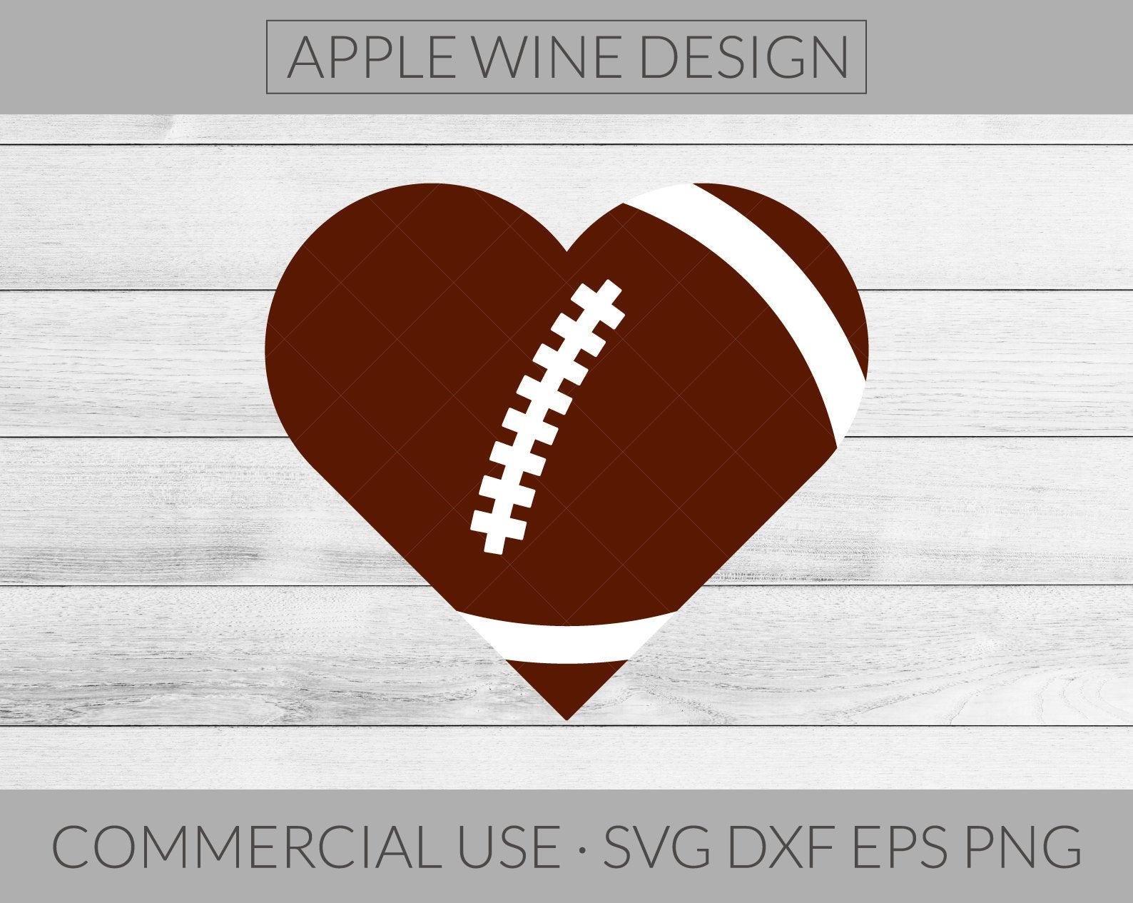 Heart Football SVG File.