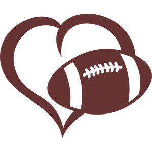 Football Heart Clipart.