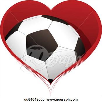 Heart Shaped Football Clipart.