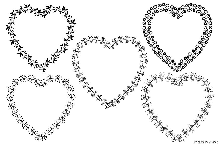 Heart Shaped Frame Clipart.