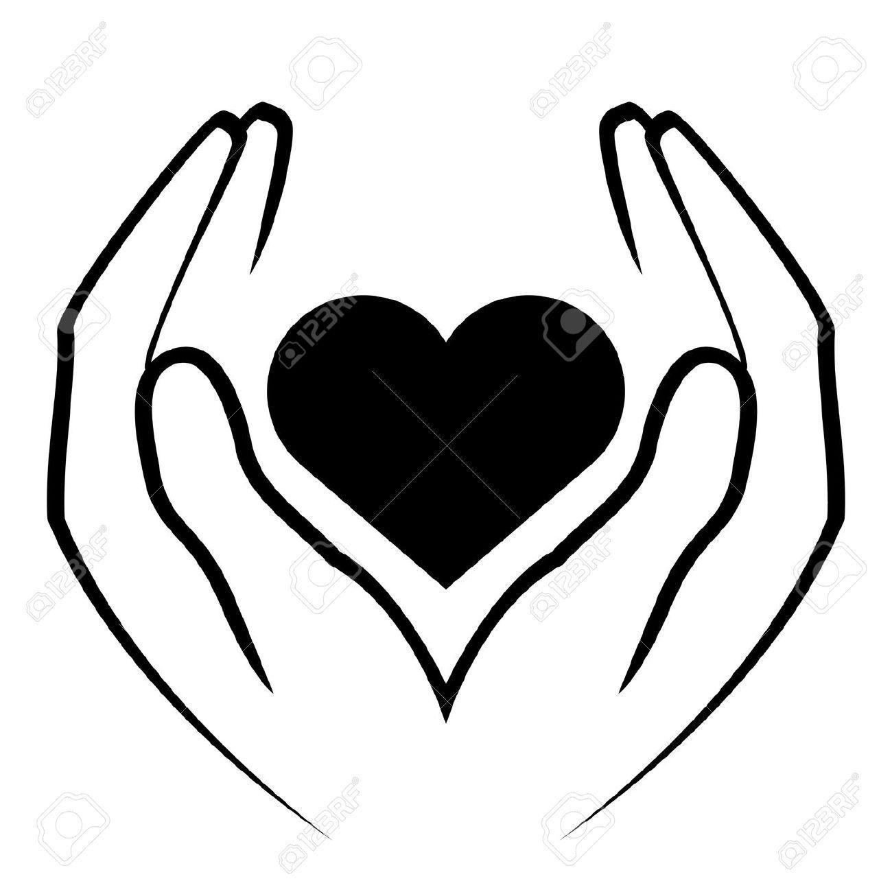 Hand Heart Clipart.