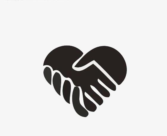 Handshake Love PNG, Clipart, Black, Cooperation, Hands.