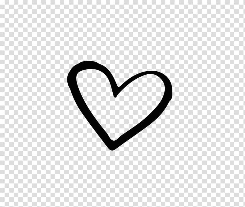 Brand Black and white Heart, Hand drawn heart.