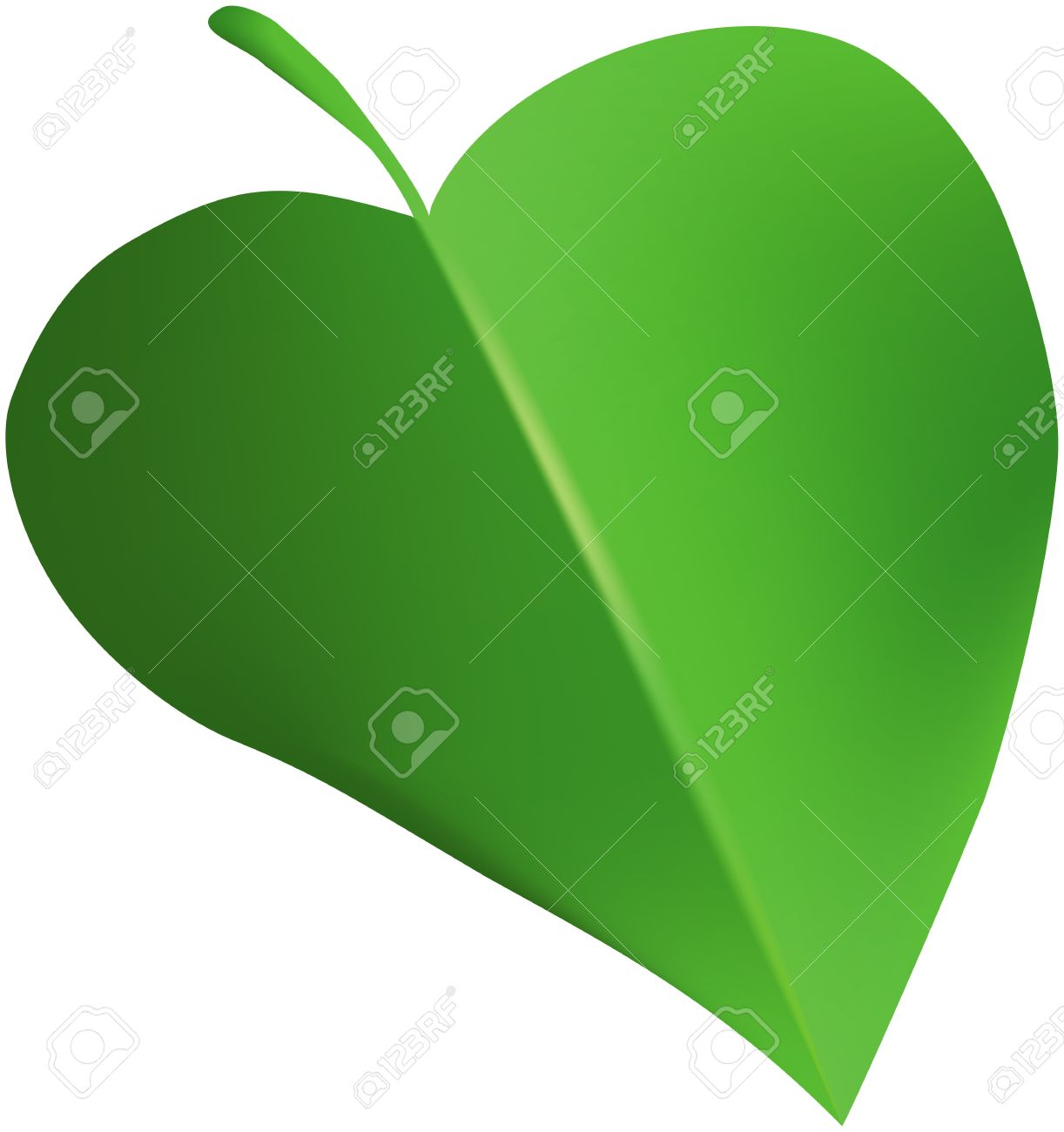 Abstract Green Heart.