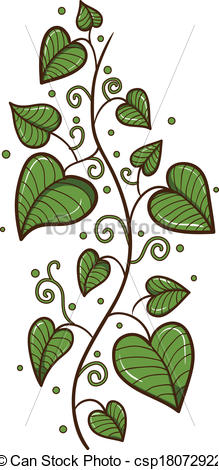 heart shaped leaf clipart #17