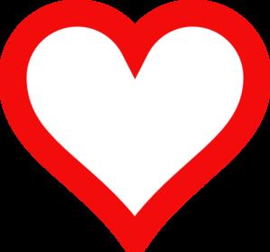 Outline Heart Shape Clipart.