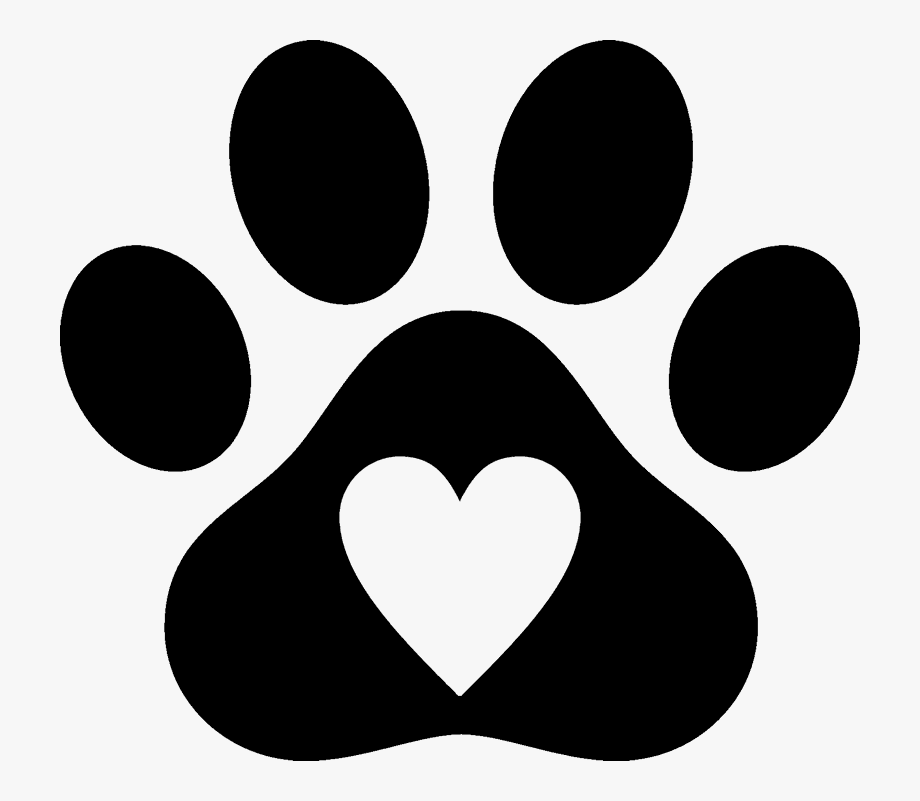 Paw Clipart Heart Shaped.