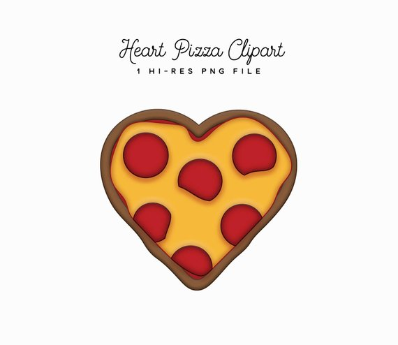 Heart shaped pizza clipart » Clipart Station.