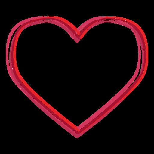 Heart shaped lines sticker.