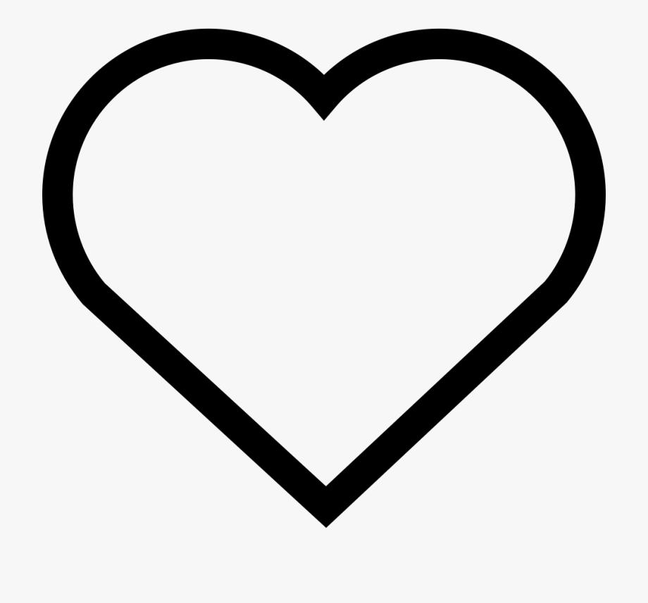 Heart Shaped Clipart Hollow Heart.